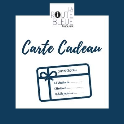 Carte Cadeau, restaurant la Route Bleue