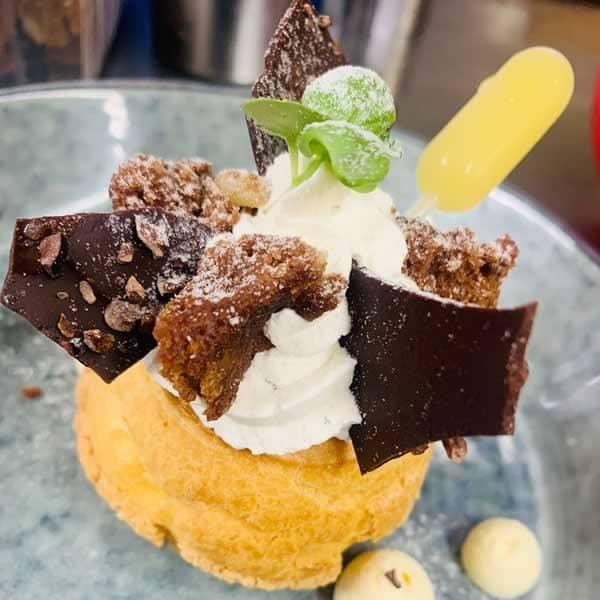 Choux à la crème, dessert La Route Bleue