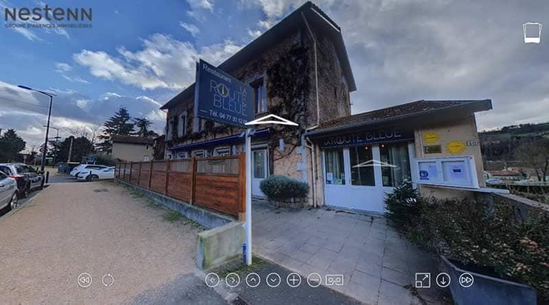 Visite immersive à 360°, restaurant la Route Bleu, proche St Etienne